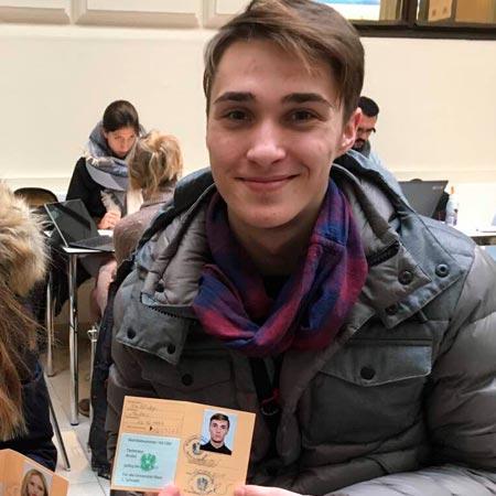 Андрій, студент Вiденського унiверситету, спецiальнicть «Мiжнародне бiзнес-адмiнiстрування»