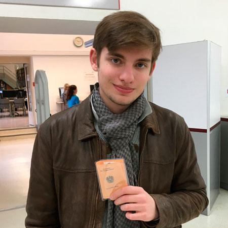 Глеб Бобышев, студент Венского главного университета по специальности «Юриспруденция»